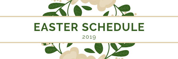 Easter Schedule graphic
