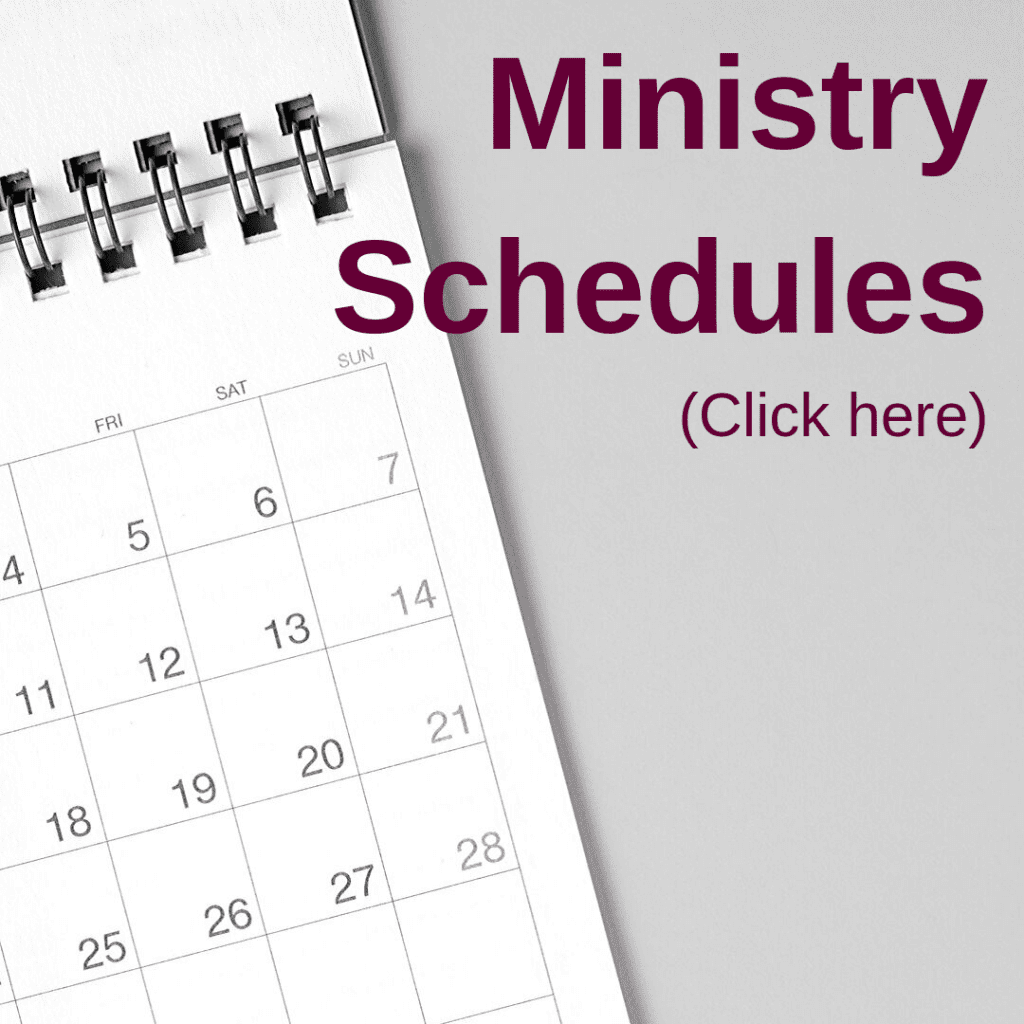 ministry schedules calendar image