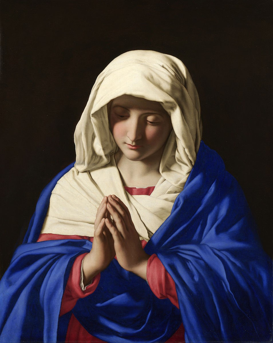 The Virgin in Prayer by Sassoferrato, 1640-1650